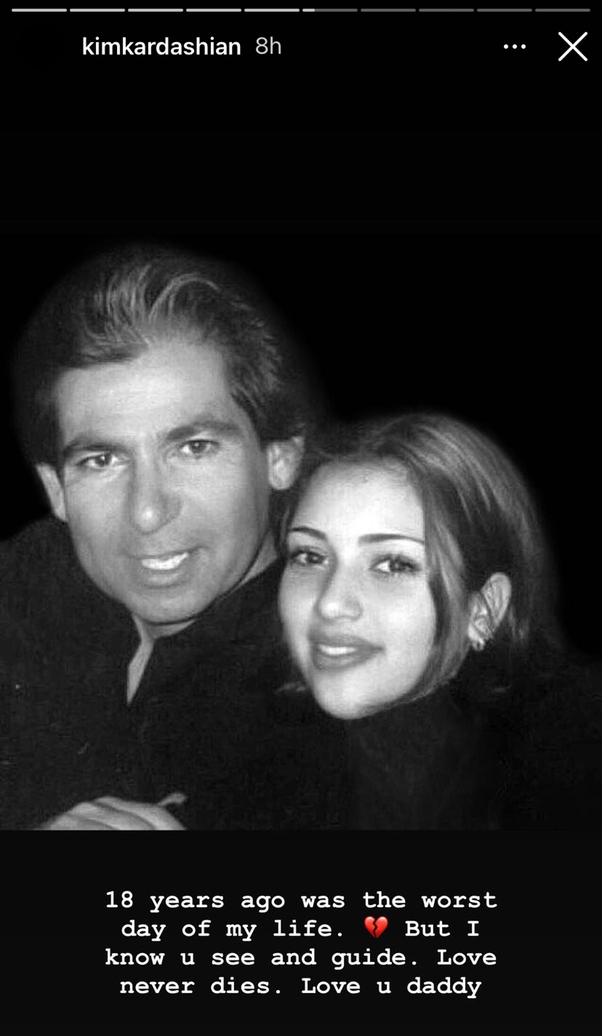 Kim Kardashian Remembers Her Father Robert On The 18th Year-end Of His Death: 'I Know You See And Guide'