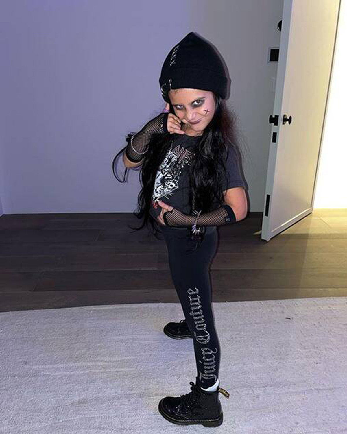 Penelope Disick's punk waddle look